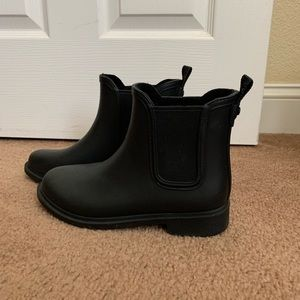 Women's CLARKS Black Rain Booties